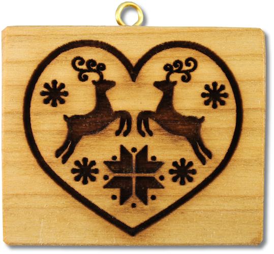 Herz mit schwedischem Hirschmotiv